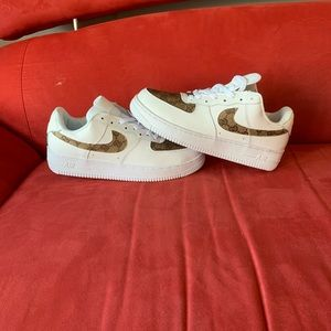 Custom Air Force Ones 1s Size 8.5